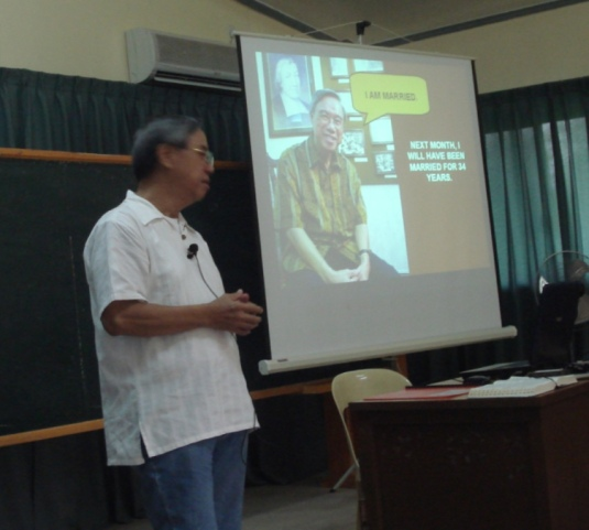 The beginning of Dr. Jose' lecture