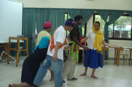 Integration Groups presented the biblical stories by enacting