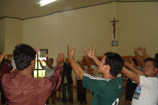 Prayer dance during the session