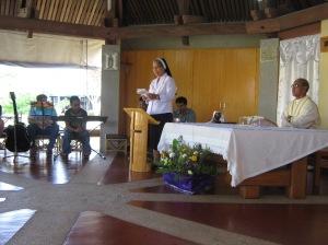 Fr. Chico is presiding the celebration.
