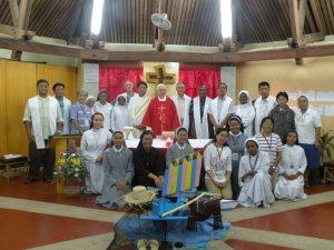 Taken after the openning mass.