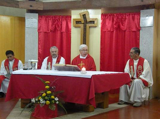 Eucharistic Mass at 5:30 PM at Euntes Chapel officiated by Fr. Giulio F. Mariani with Fr. Sergio Fossati, Fr. Nevio Vigano and Fr. Buboy Catan