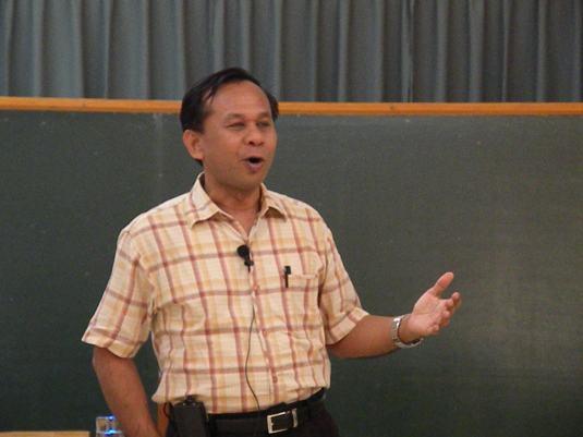Fr. Madya Utama, SJ - the speaker on Mission of Leadership