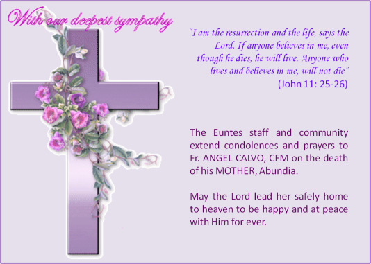 Condolences and Prayers to Fr. Angel Calvo